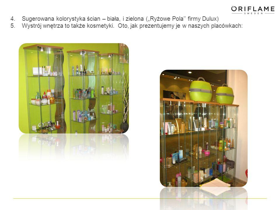 """4. Sugerowana kolorystyka ścian – biała, i zielona (""""Ryżowe Pola'' firmy Dulux) 5."""