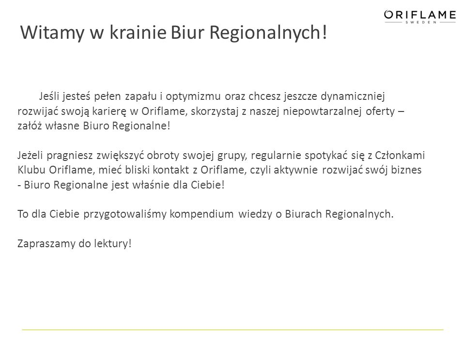 Witamy w krainie Biur Regionalnych!