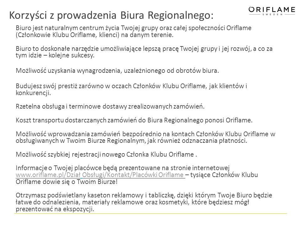 Korzyści z prowadzenia Biura Regionalnego: