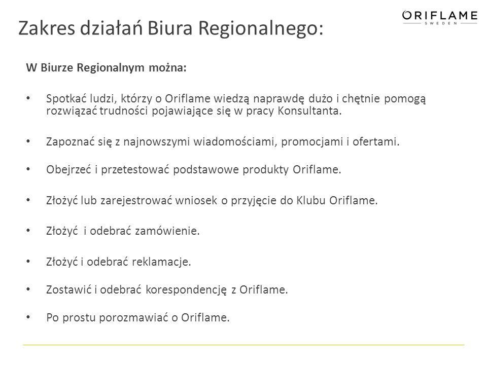 Zakres działań Biura Regionalnego: