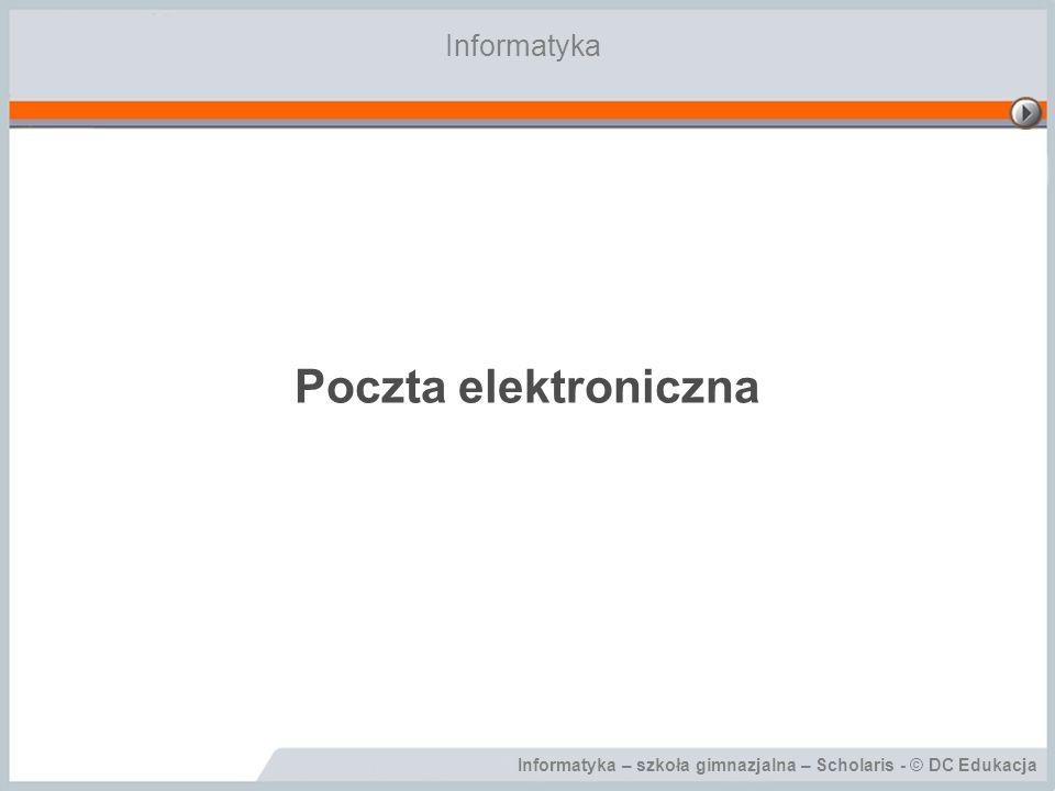 Informatyka Poczta elektroniczna