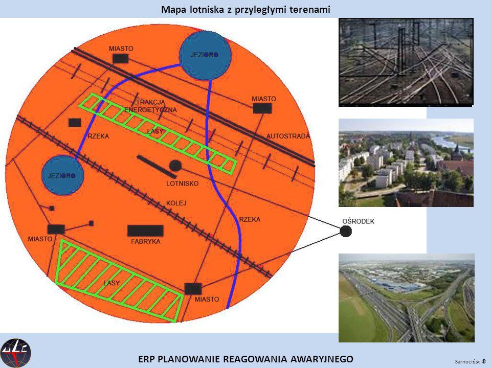 Mapa lotniska z przyległymi terenami