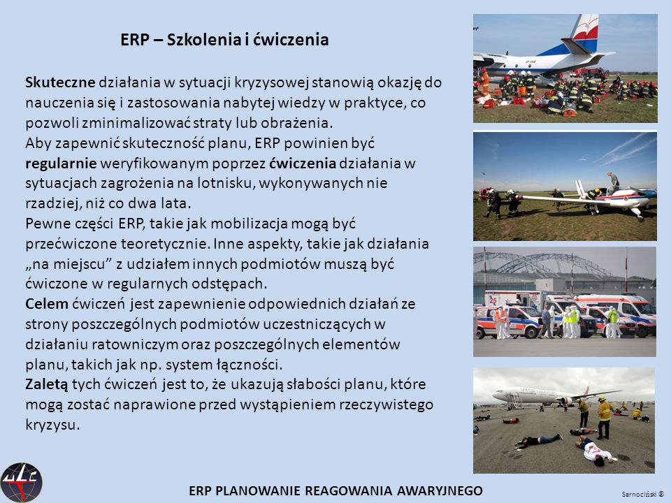 ERP – Szkolenia i ćwiczenia ERP PLANOWANIE REAGOWANIA AWARYJNEGO