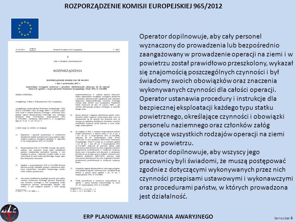 ROZPORZĄDZENIE KOMISJI EUROPEJSKIEJ 965/2012