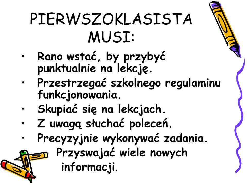 PIERWSZOKLASISTA MUSI: