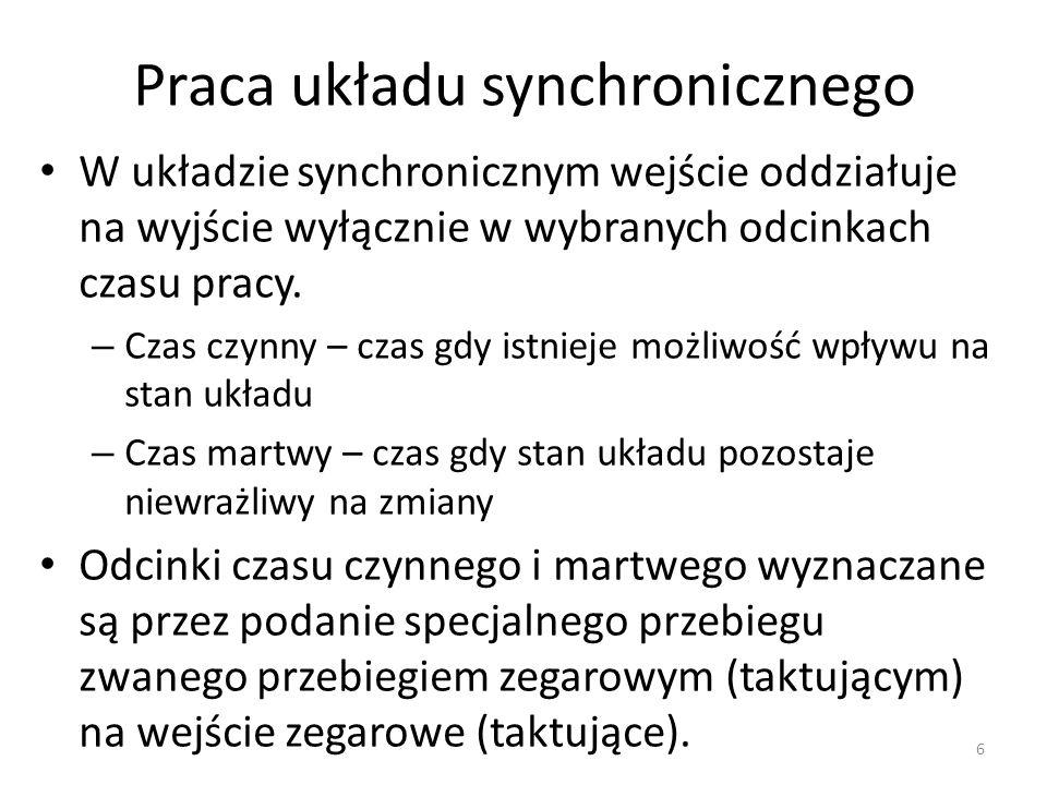 Praca układu synchronicznego