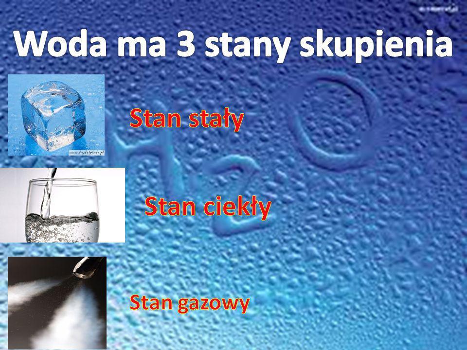 Woda ma 3 stany skupienia