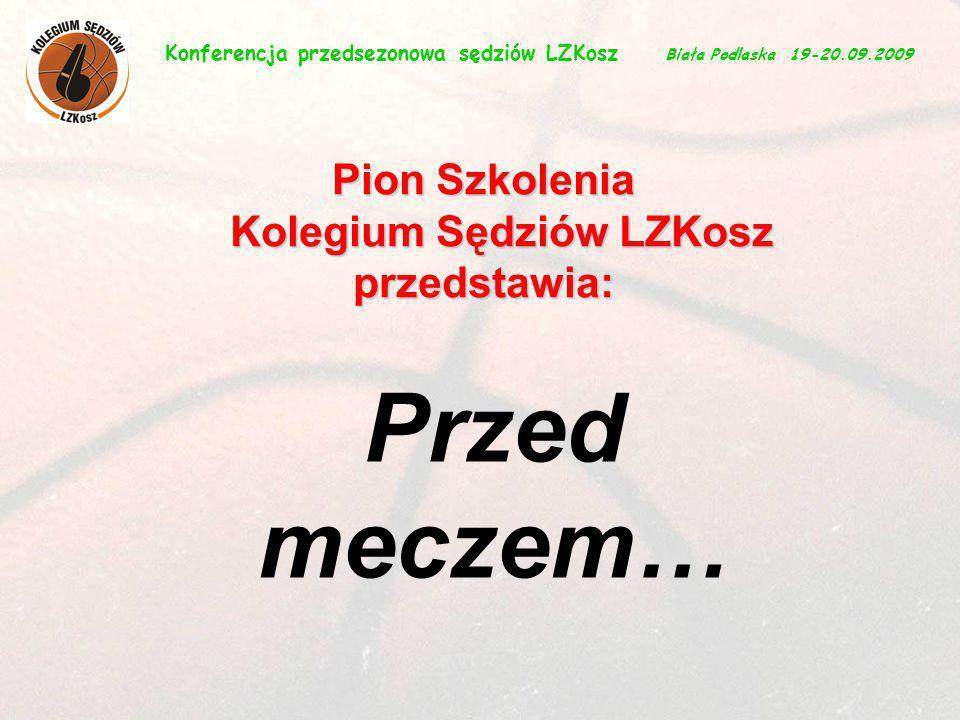 Przed meczem… Pion Szkolenia Kolegium Sędziów LZKosz przedstawia:
