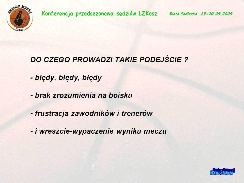 Konferencja przedsezonowa sędziów LZKosz Biała Podlaska 19-20.09.2009