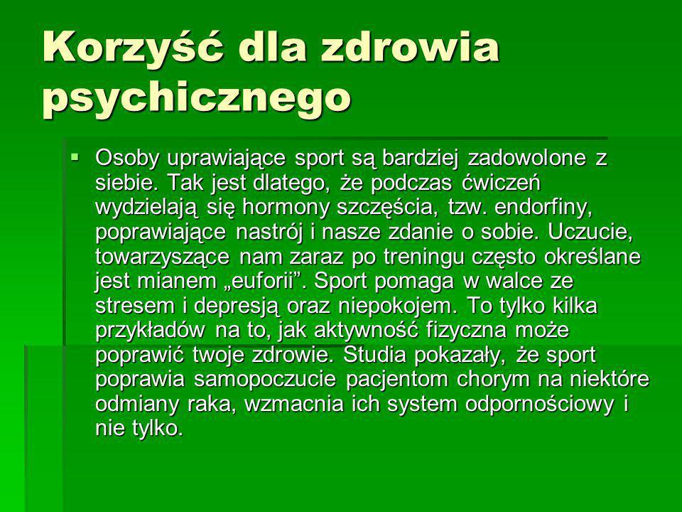 Korzyść dla zdrowia psychicznego