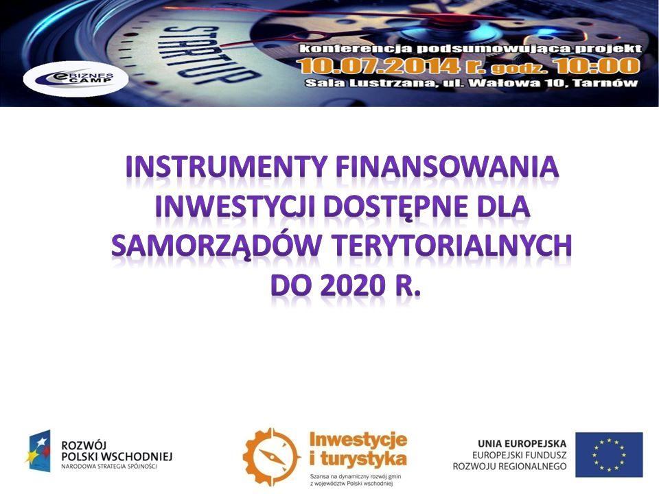 Instrumenty finansowania inwestycji DOSTĘPNE DLA