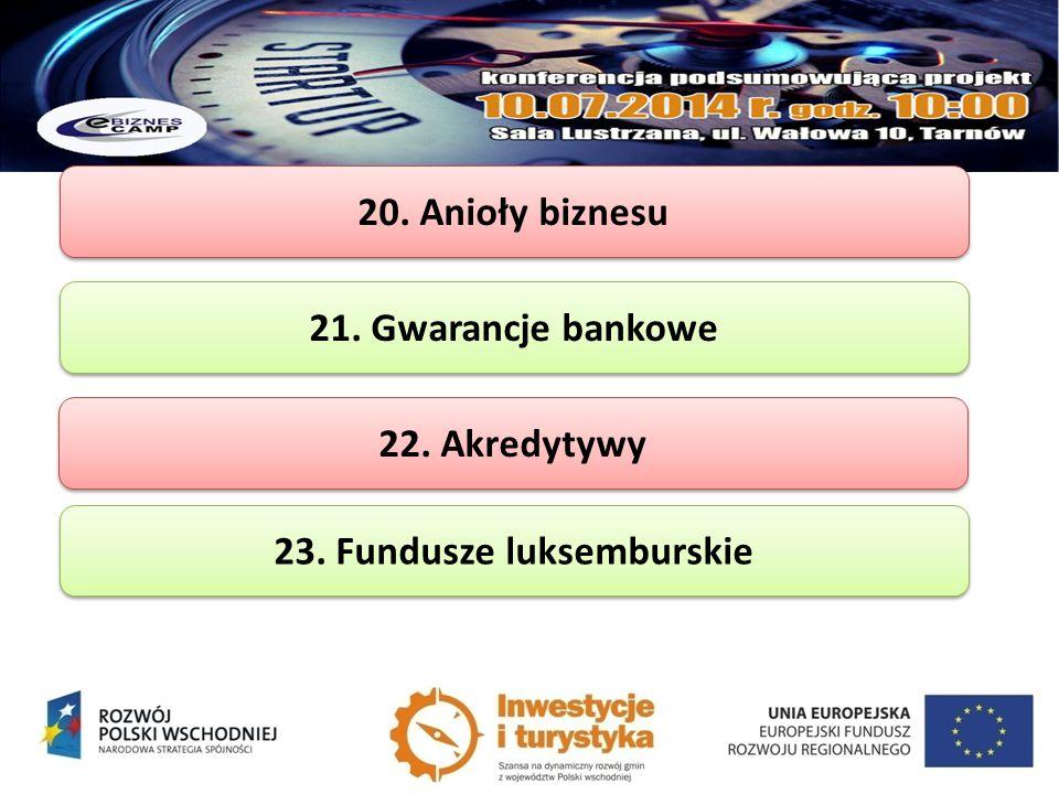 23. Fundusze luksemburskie