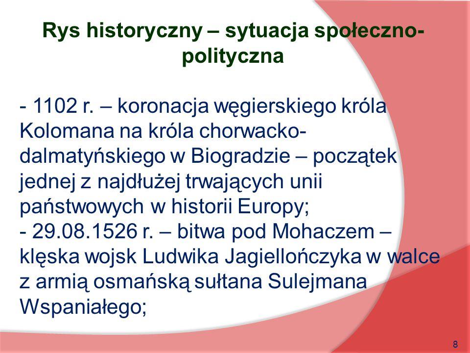 Rys historyczny – sytuacja społeczno-polityczna