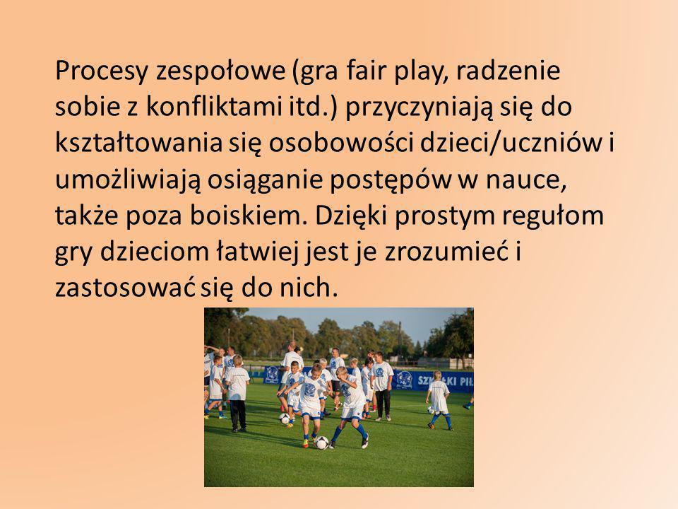 Procesy zespołowe (gra fair play, radzenie sobie z konfliktami itd