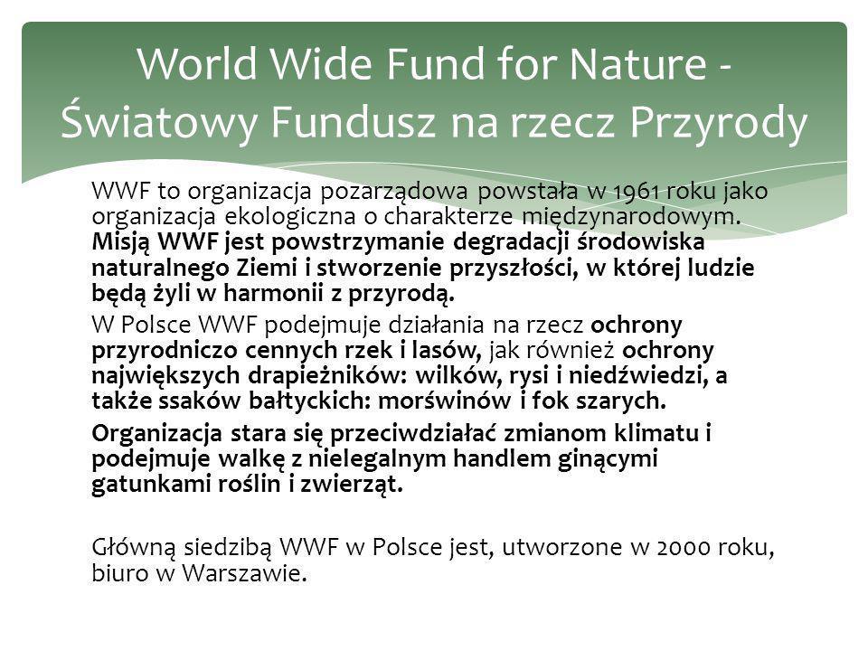 World Wide Fund for Nature -Światowy Fundusz na rzecz Przyrody