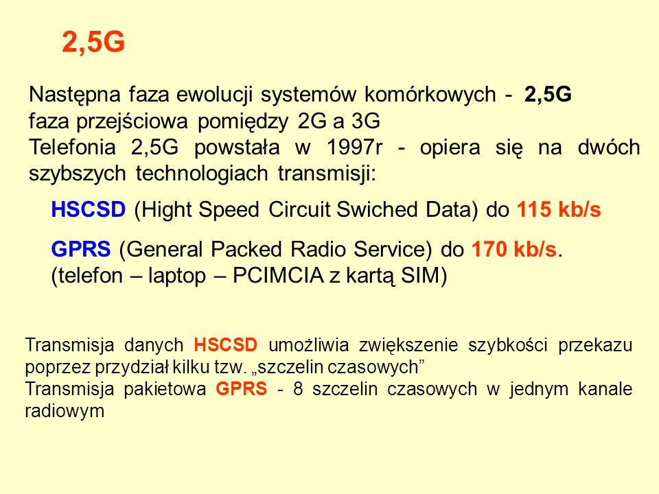 2,5G Następna faza ewolucji systemów komórkowych - 2,5G