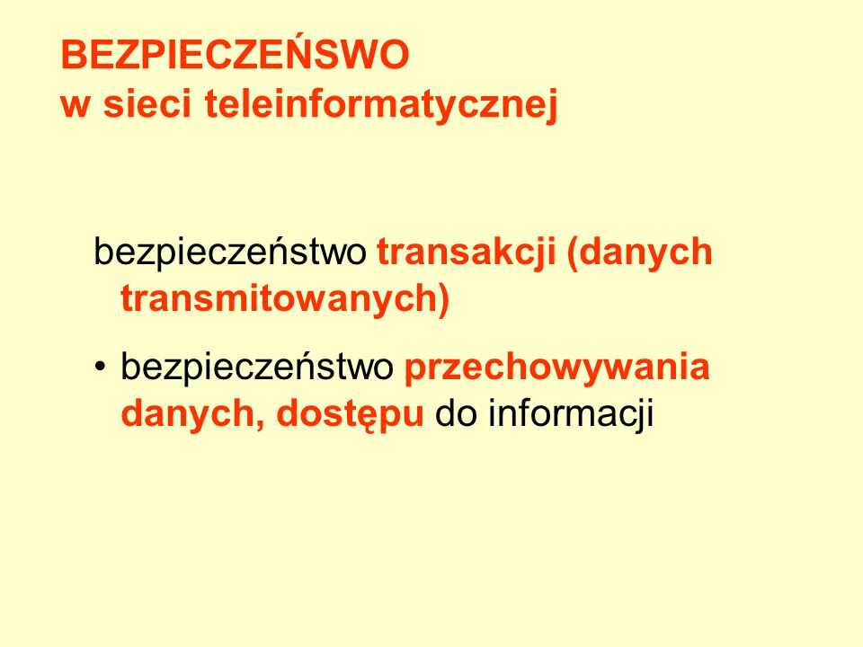 w sieci teleinformatycznej