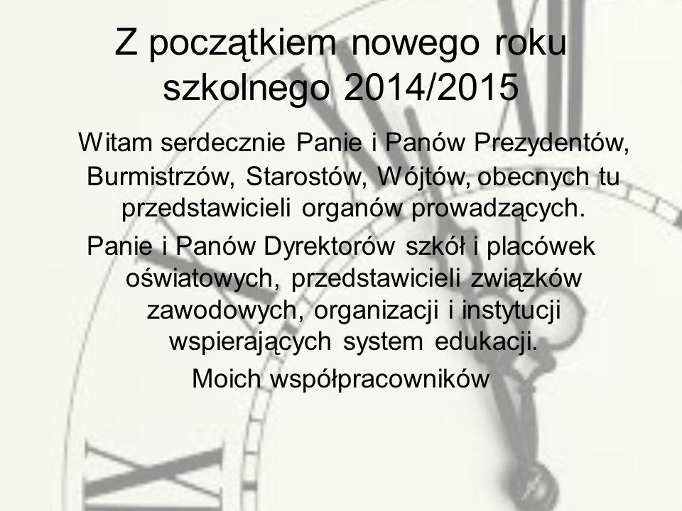 Z początkiem nowego roku szkolnego 2014/2015