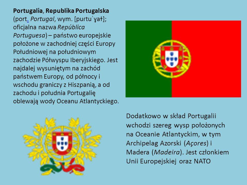 Portugalia, Republika Portugalska (port. Portugal, wym
