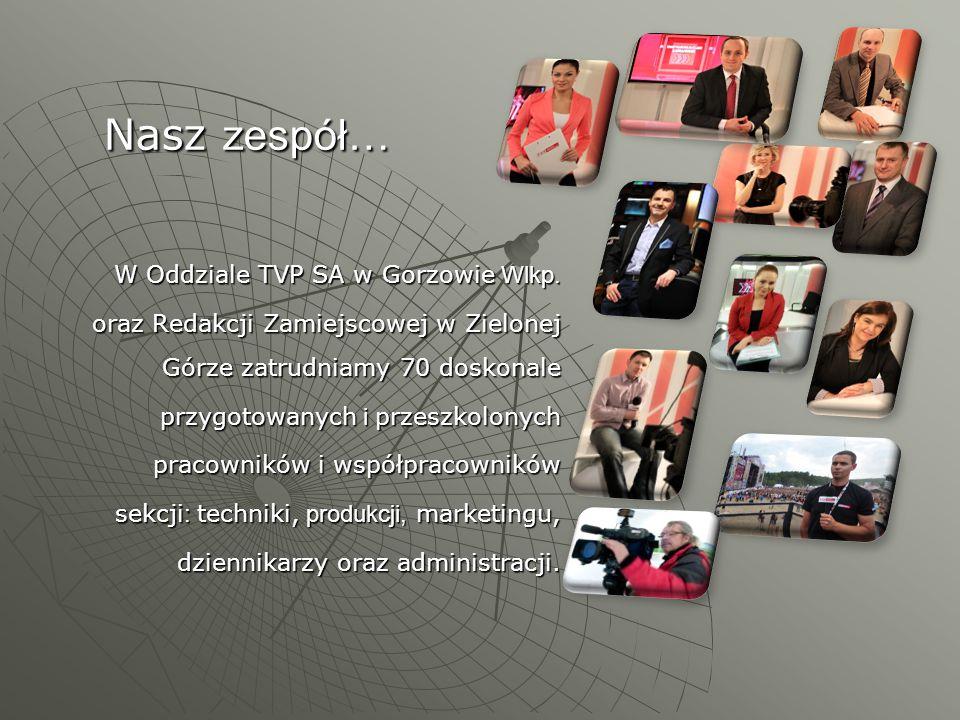 Nasz zespół… W Oddziale TVP SA w Gorzowie Wlkp.