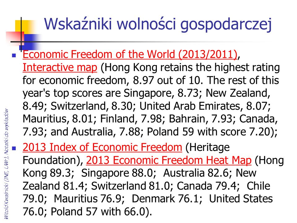Wskaźniki wolności gospodarczej