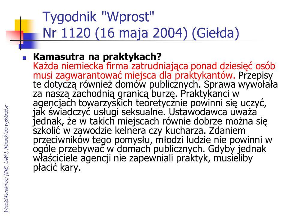 Tygodnik Wprost Nr 1120 (16 maja 2004) (Giełda)
