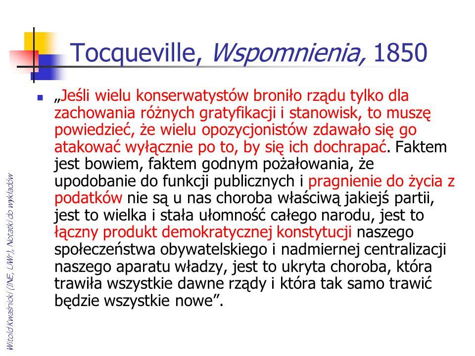 Tocqueville, Wspomnienia, 1850
