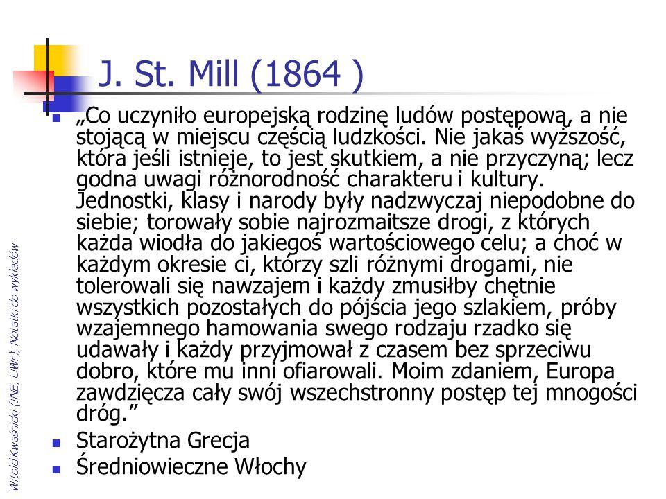 J. St. Mill (1864 )
