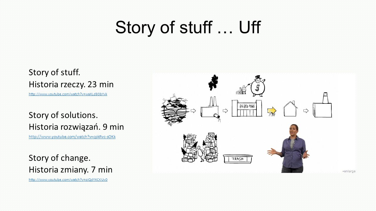 Story of stuff … Uff Story of stuff. Historia rzeczy. 23 min