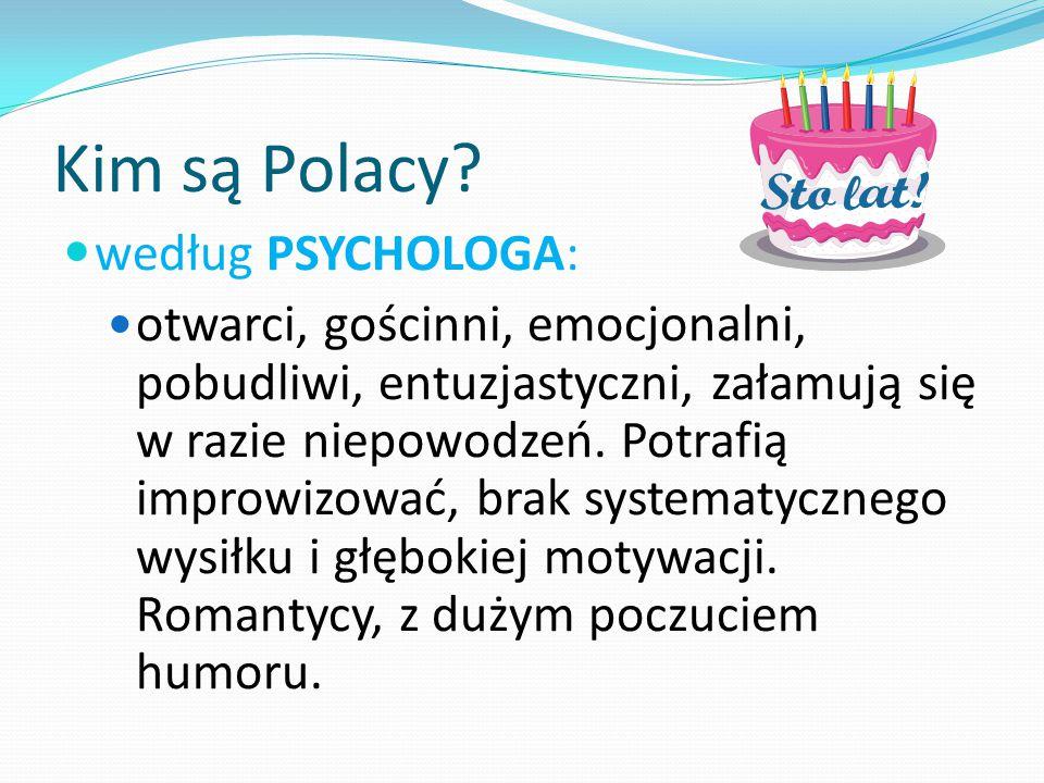 Kim są Polacy według PSYCHOLOGA:
