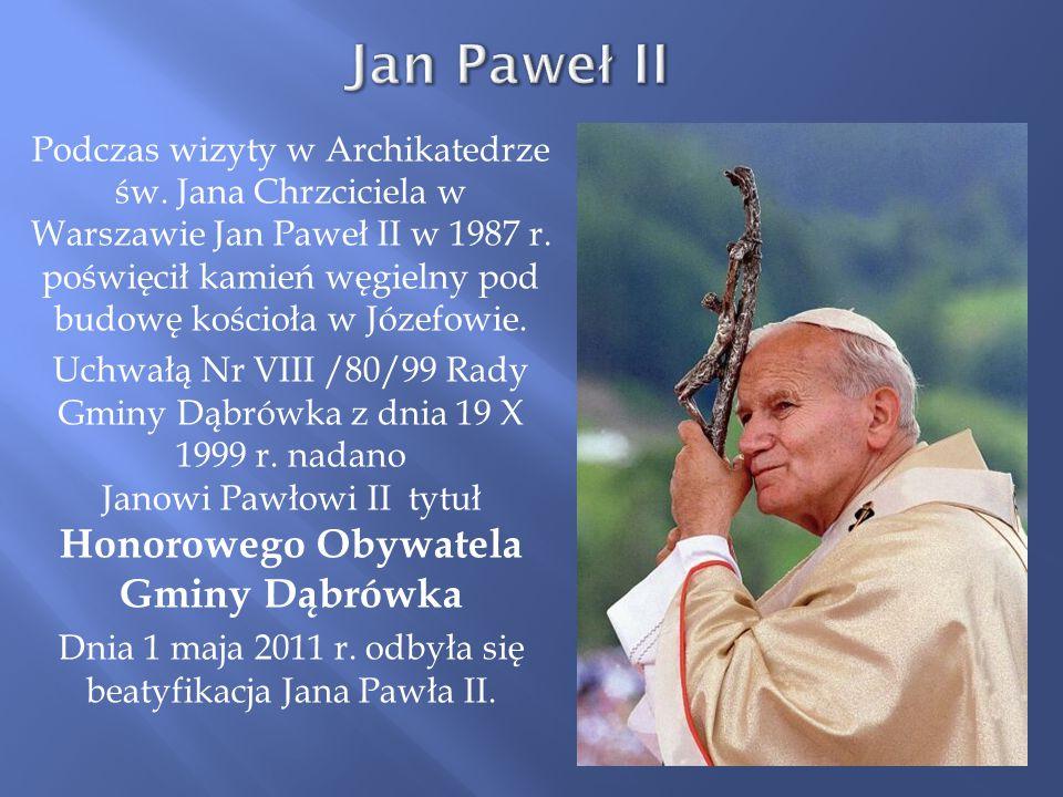 Dnia 1 maja 2011 r. odbyła się beatyfikacja Jana Pawła II.