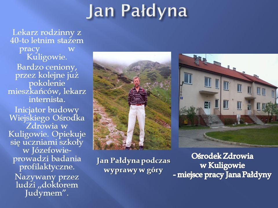 Jan Pałdyna podczas wyprawy w góry