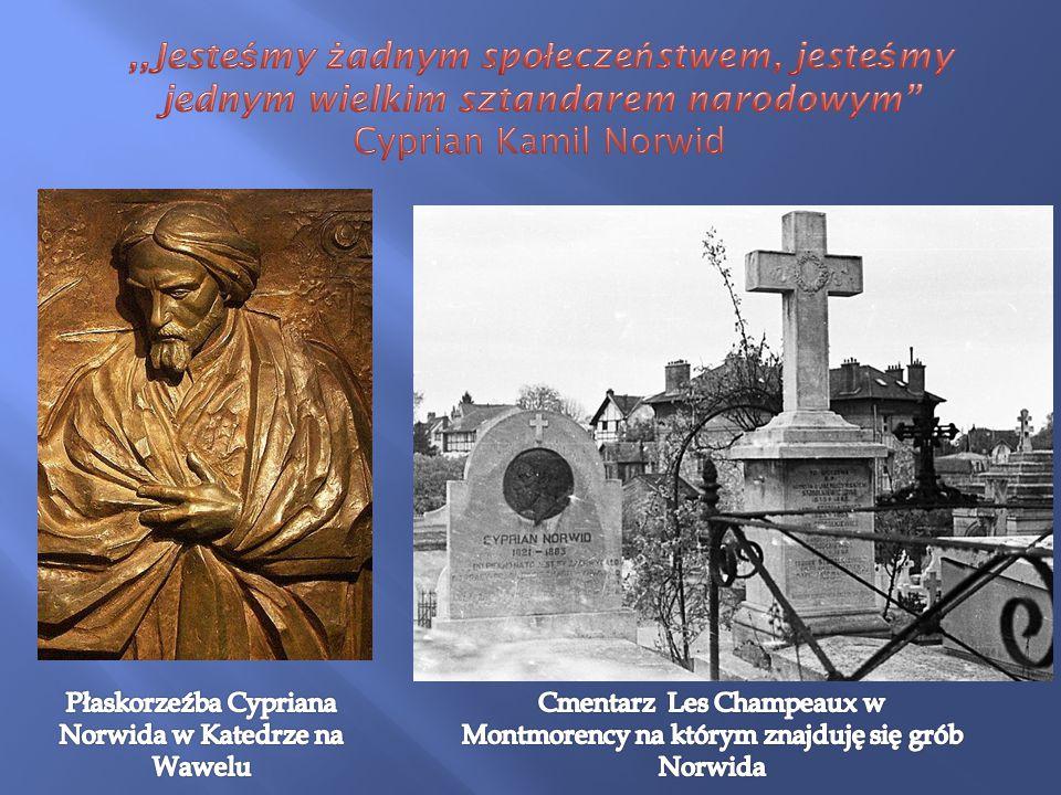Płaskorzeźba Cypriana Norwida w Katedrze na Wawelu