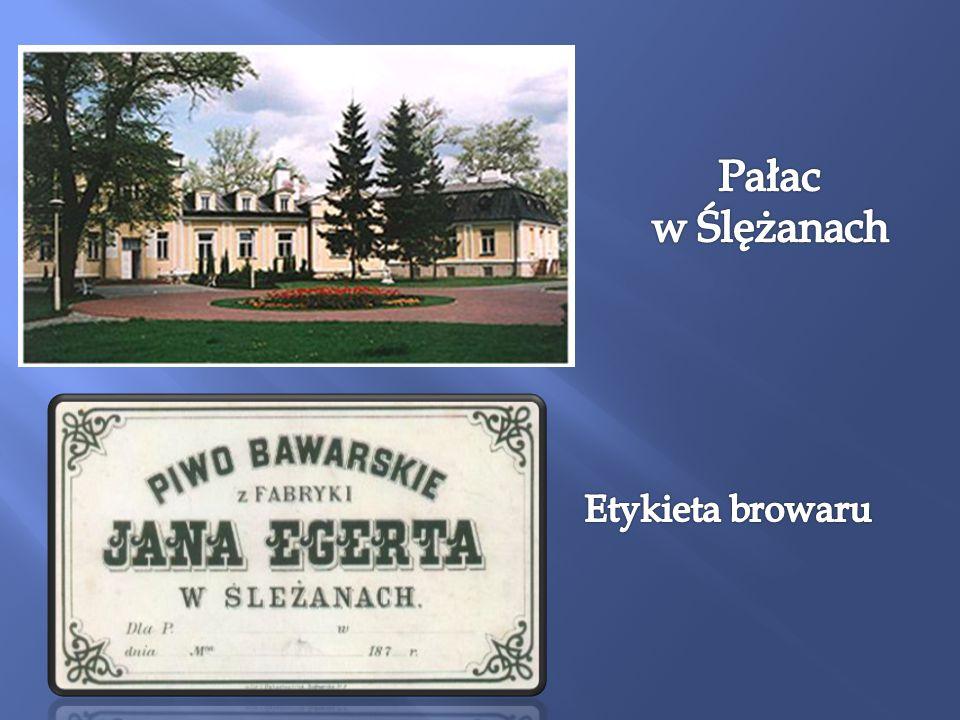 Pałac w Ślężanach Etykieta browaru