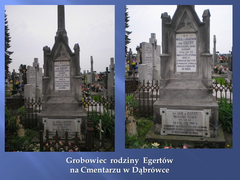 Grobowiec rodziny Egertów na Cmentarzu w Dąbrówce