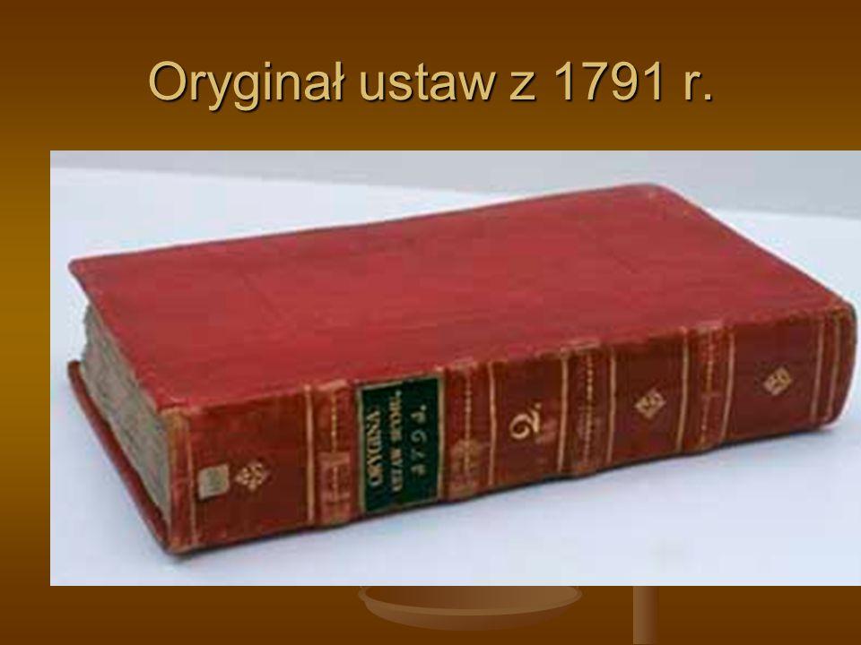 Oryginał ustaw z 1791 r.
