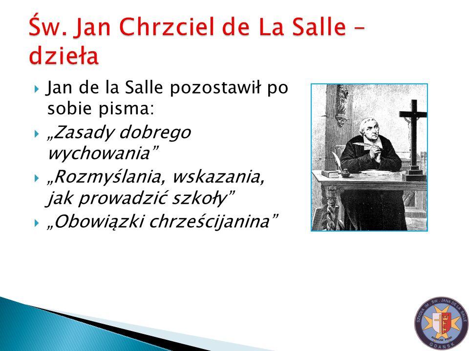 Św. Jan Chrzciel de La Salle – dzieła