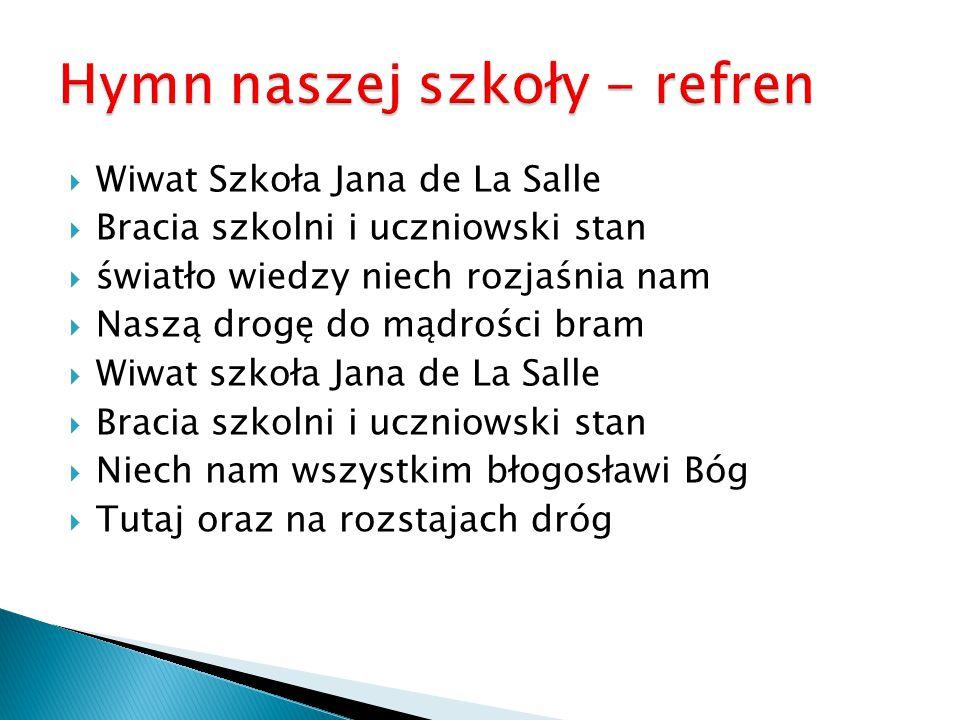 Hymn naszej szkoły - refren