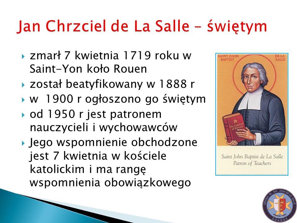 Jan Chrzciel de La Salle – świętym