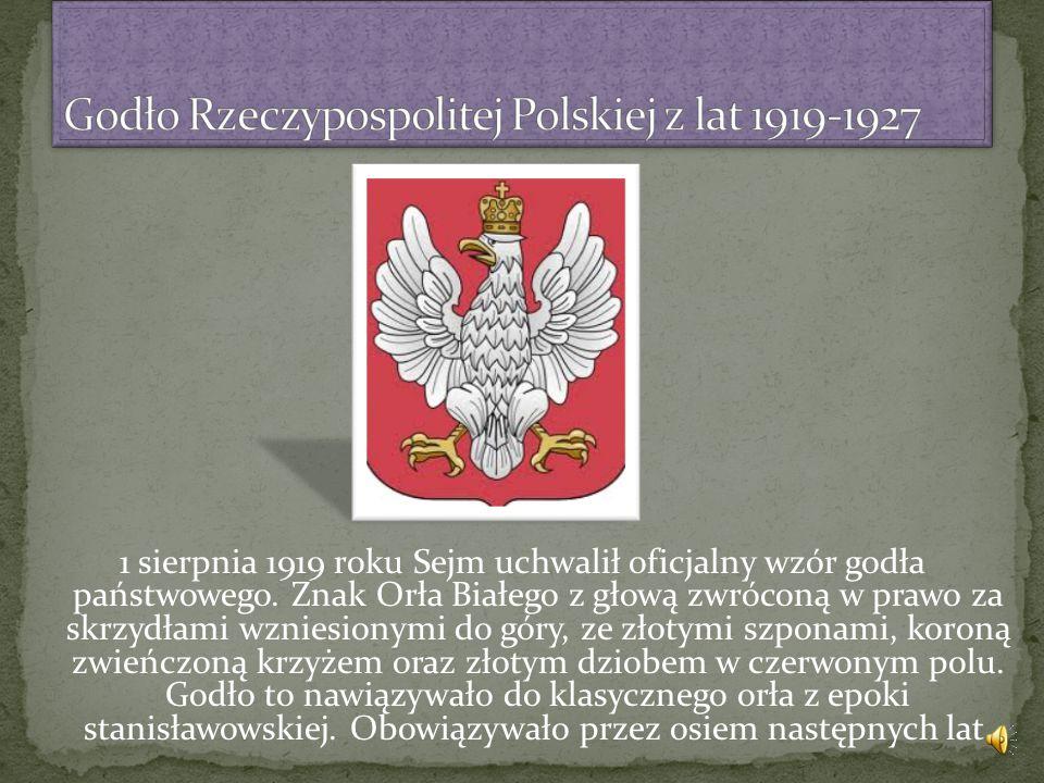 Godło Rzeczypospolitej Polskiej z lat 1919-1927