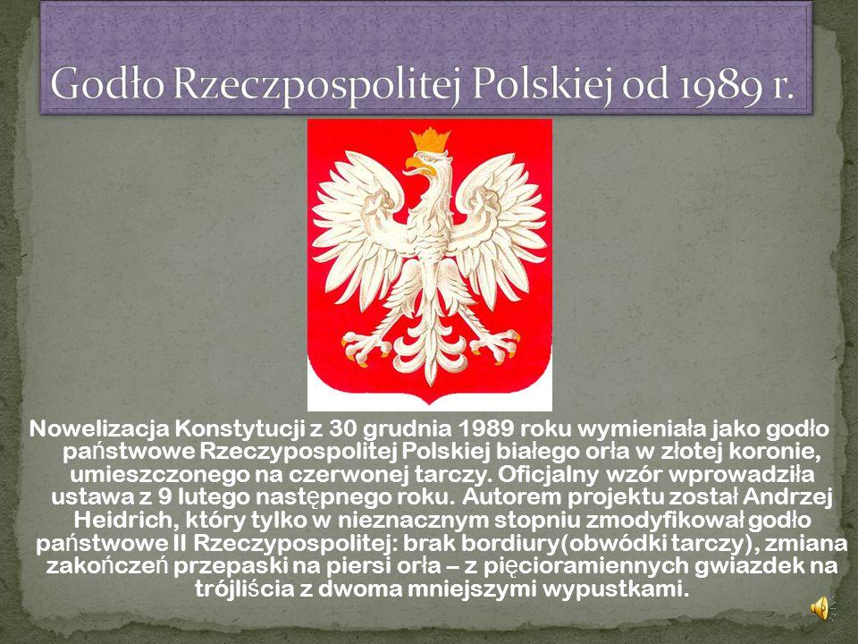 Godło Rzeczpospolitej Polskiej od 1989 r.