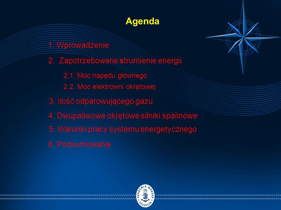 Agenda 1. Wprowadzenie 2. Zapotrzebowane strumienie energii