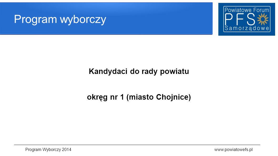 Kandydaci do rady powiatu okręg nr 1 (miasto Chojnice)