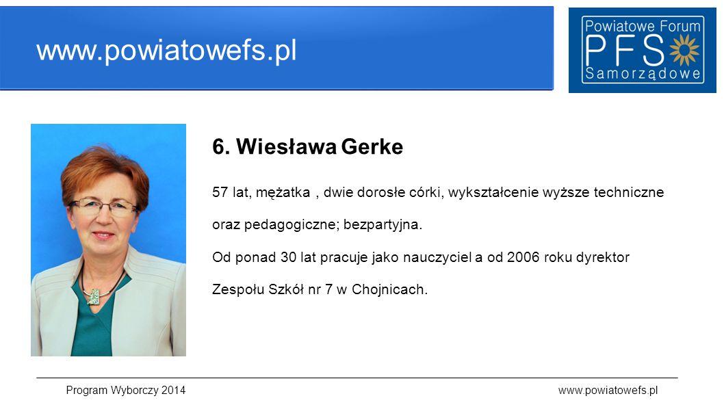 Program Wyborczy 2014 www.powiatowefs.pl