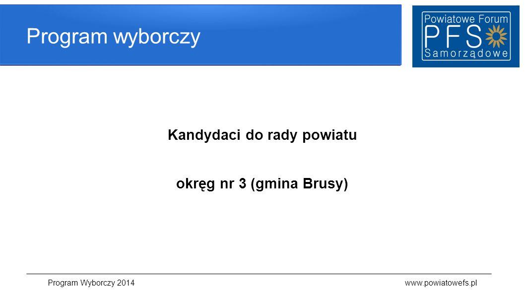 Kandydaci do rady powiatu okręg nr 3 (gmina Brusy)