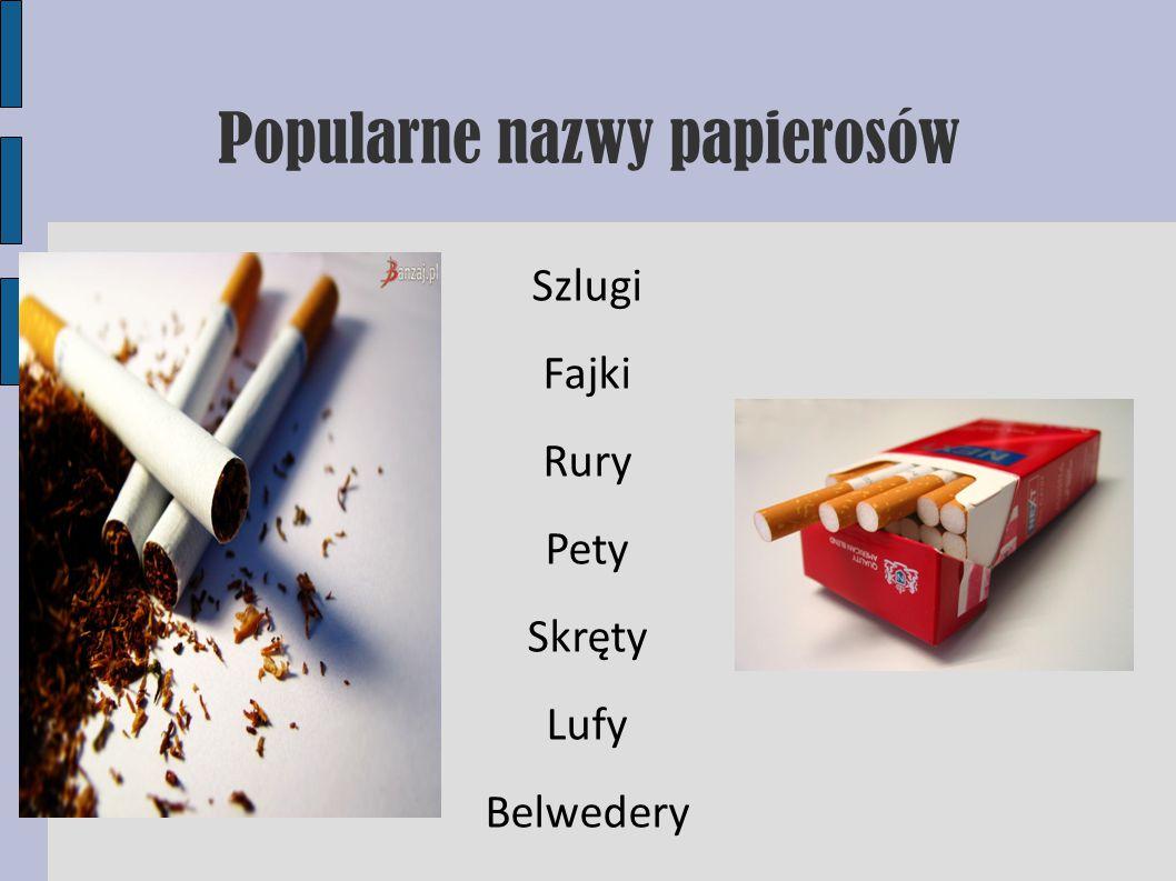 Popularne nazwy papierosów