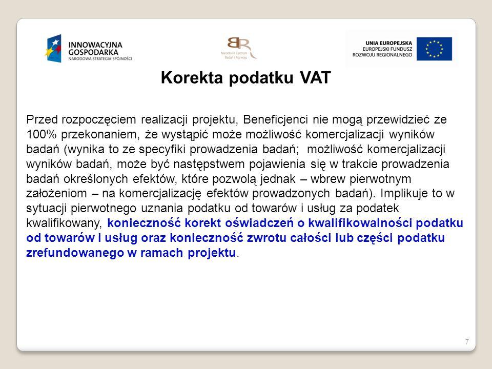 Korekta podatku VAT