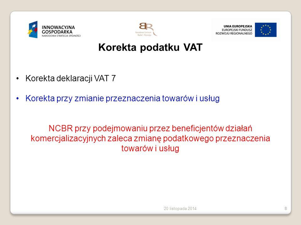 Korekta podatku VAT Korekta deklaracji VAT 7