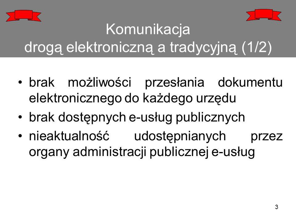 Komunikacja drogą elektroniczną a tradycyjną (1/2)