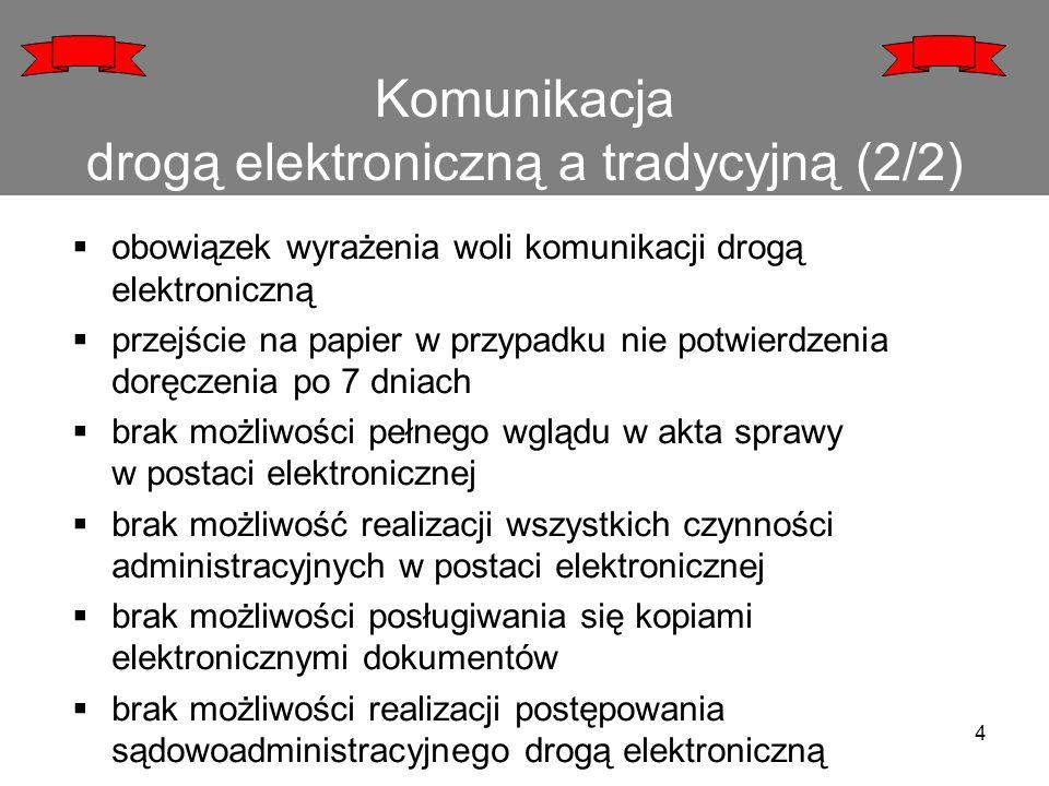 Komunikacja drogą elektroniczną a tradycyjną (2/2)